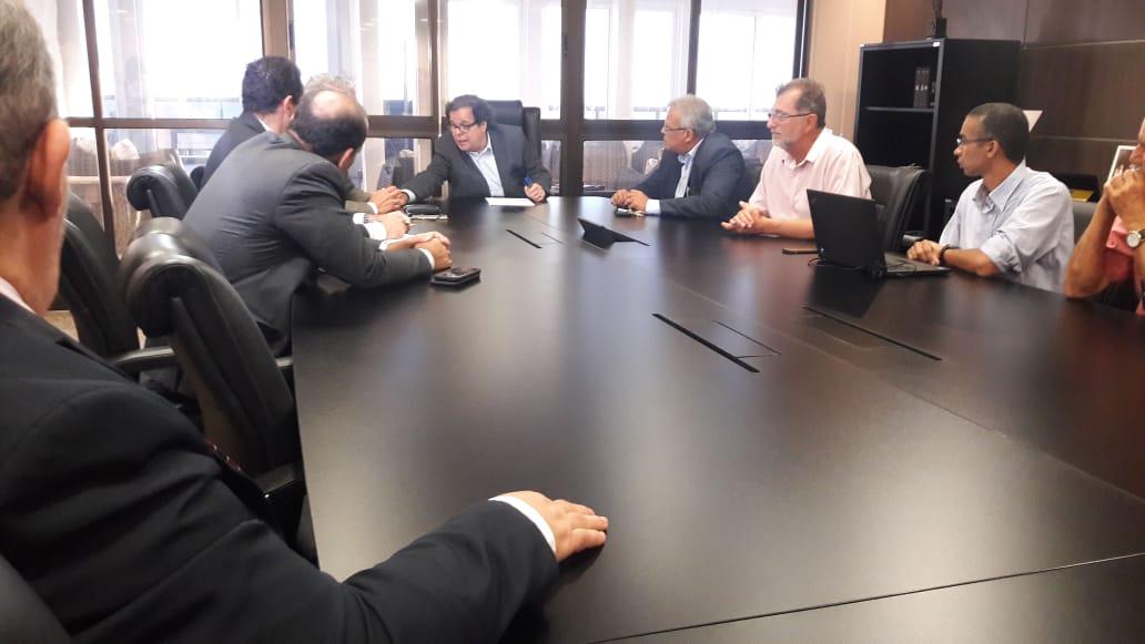 Reunião entre o  presidente do Tribunal de Justiça de Alagoas e representantes da Braskem