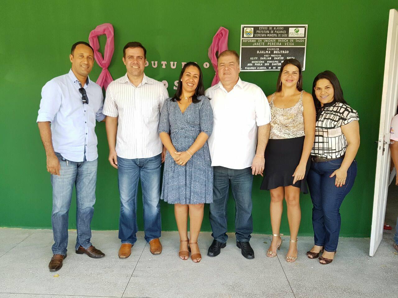 Em Piaçabuçu esteve ao lado do prefeito Djalma Brêda, vice-prefeita, Keity, vereadores, secretários municipais, lideranças políticas