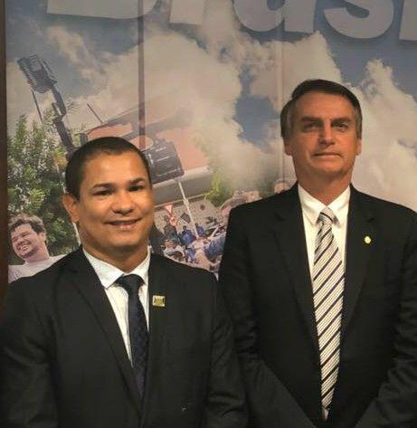 Flávio Moreno com Presidente Bolsonaro