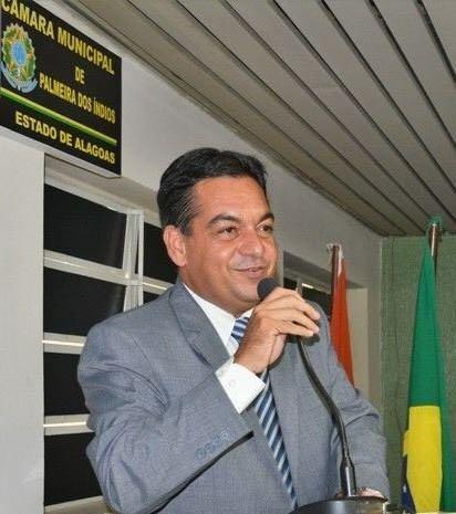 Presidente daCâmara de Vereadoresde Palmeira dos Índios, overeador Júnior Miranda (PSL)