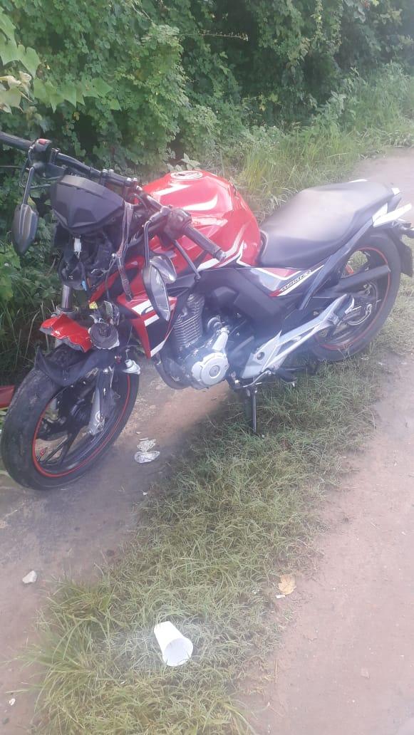 Acidente de moto deixa um ferido em Maceió