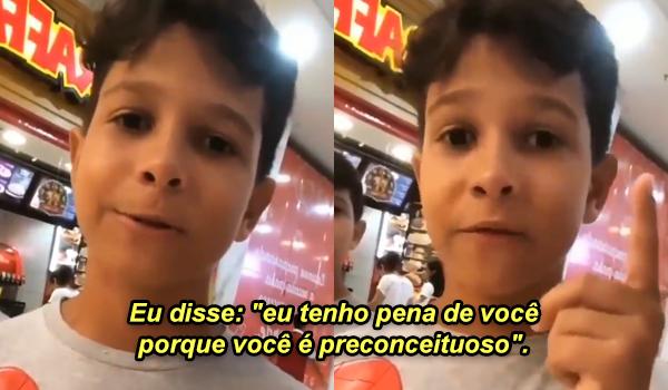 Lucas, de 10 anos, teve vídeo viralizado após defender trans