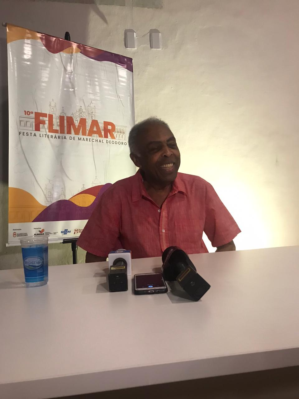Cantor e compositor Gilberto Gil foi o homenageado da Flimar