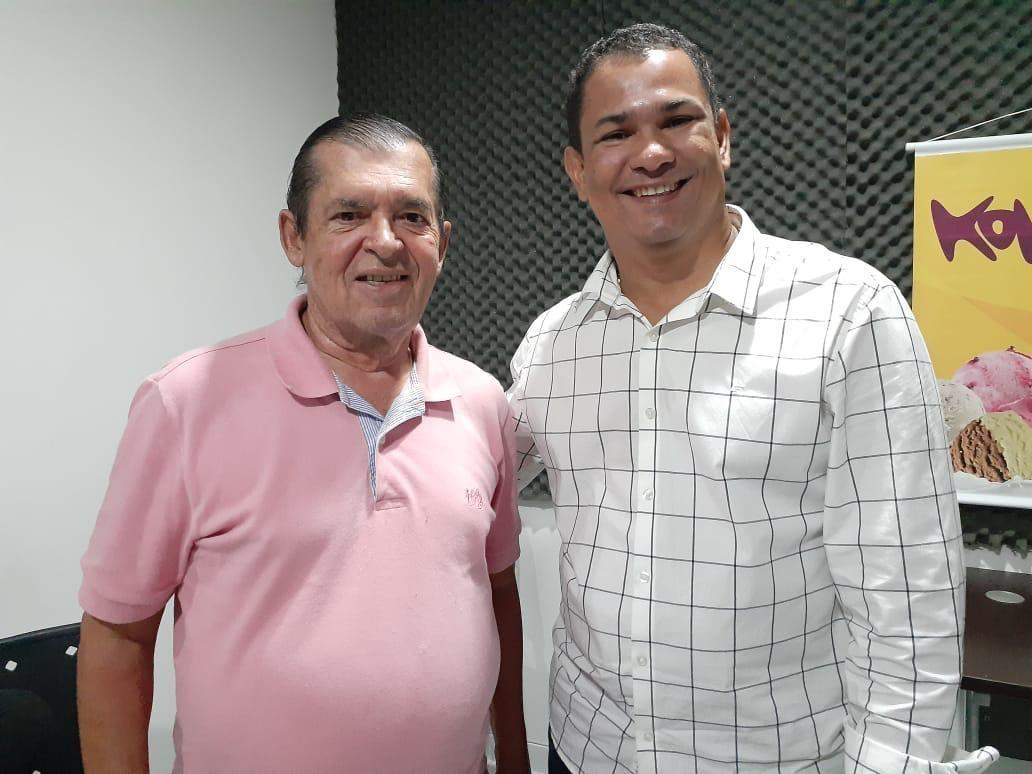 Radialista França Moura com Presidente do PSL Alagoas Flávio Moreno