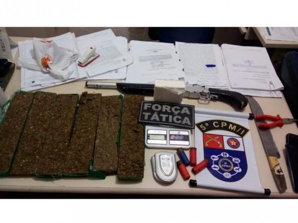 Cocaína foi avaliada em até R$ 60 mil.