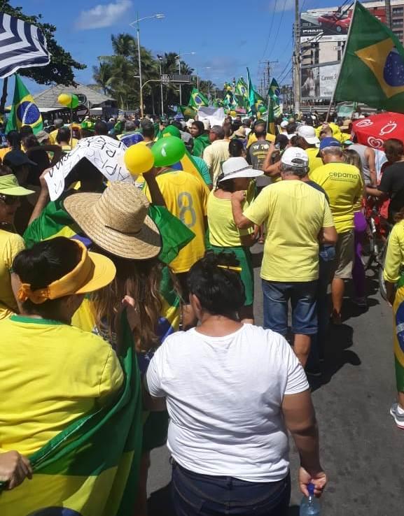 Manifestação Pró-Bolsonaro em Maceió