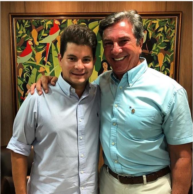 Fernando Lyra e e o tio-senador, Fernando Collor, ambos do PTC